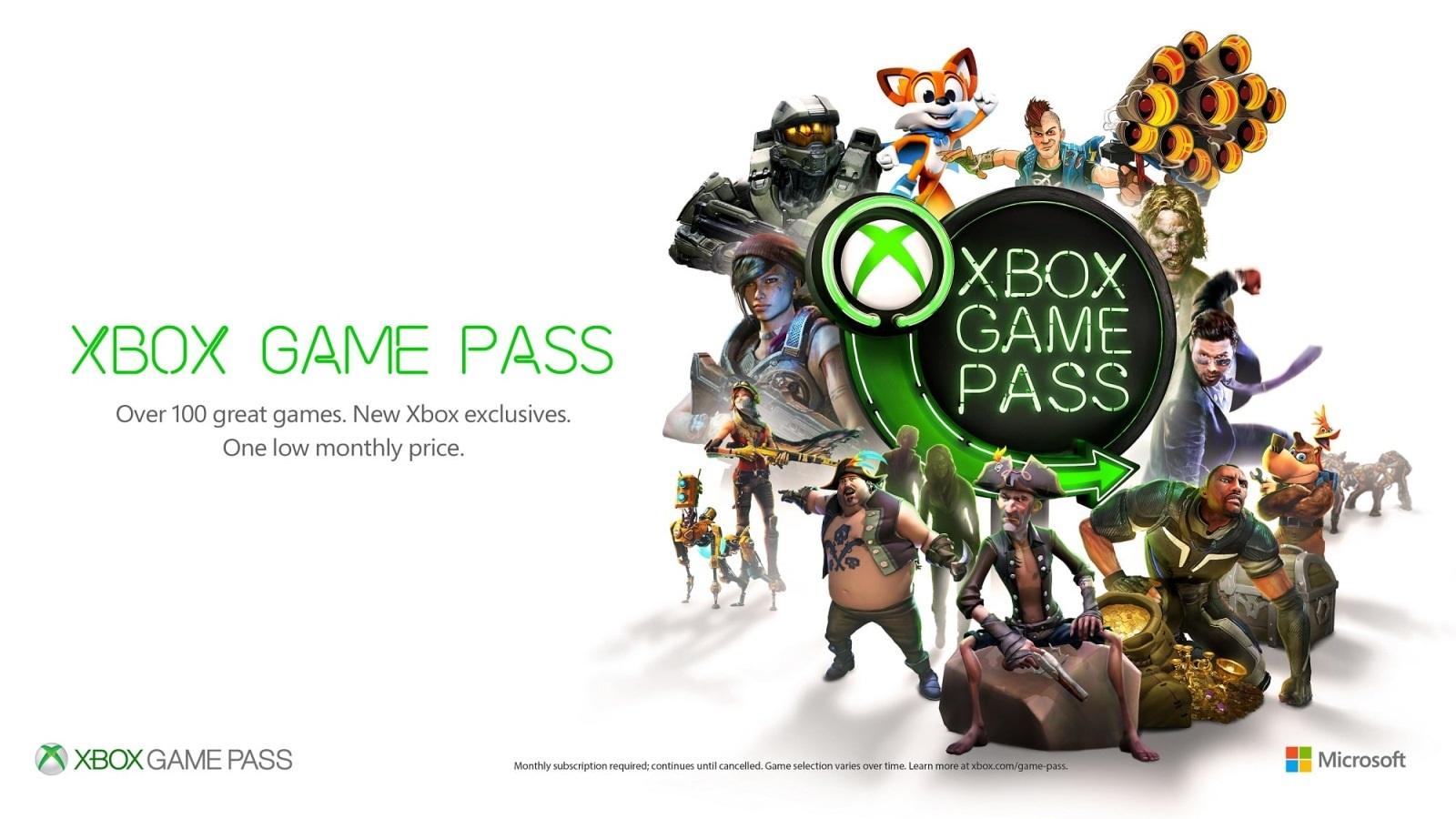 Xbox Game Pass; screenshot: postavy, logo