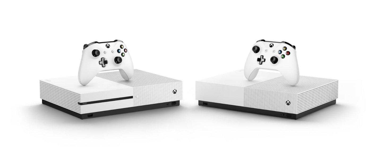 Xbox One S All-Digital Edition; screenshot: porovnání