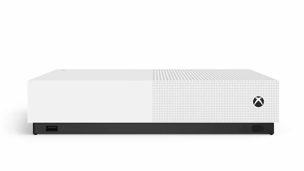 Xbox One S All-Digital Edition; screenshot: přední strana