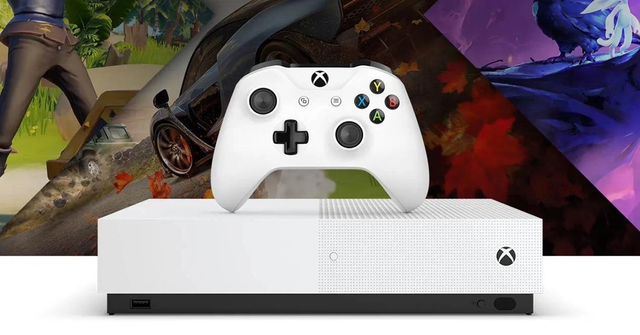 Xbox One S All-Digital Edition; screenshot: platforma s ovladačem