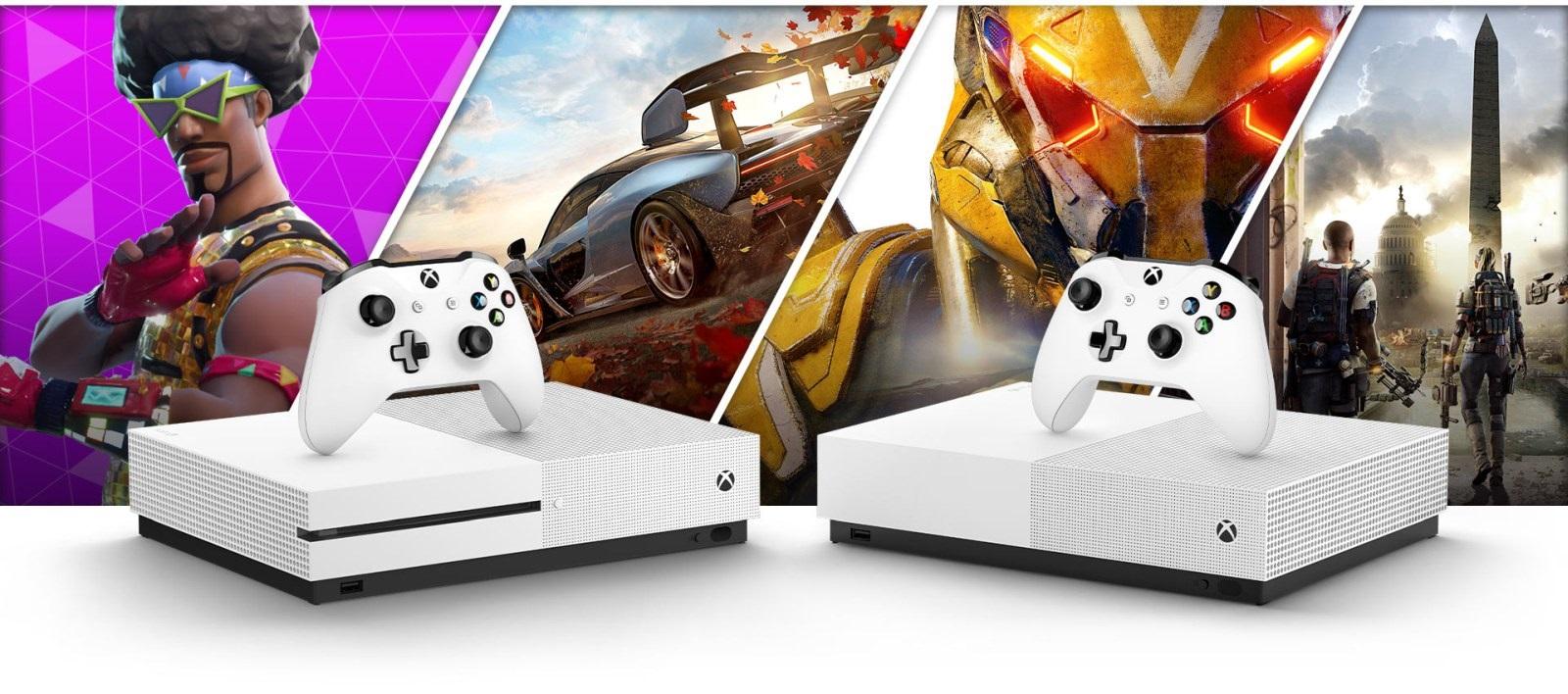Xbox One S All-Digital Edition; screenshot: srovnání