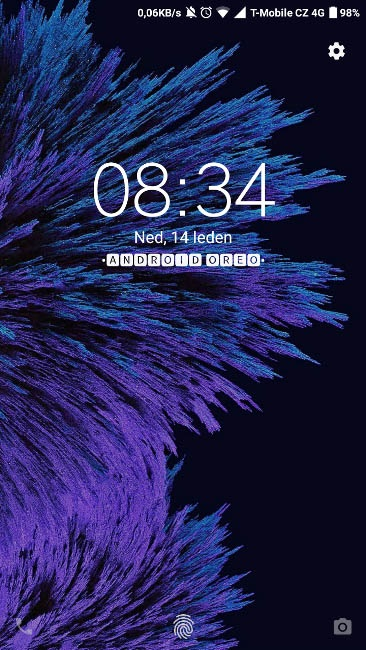 Xiaomi Android Oreo lockscreen