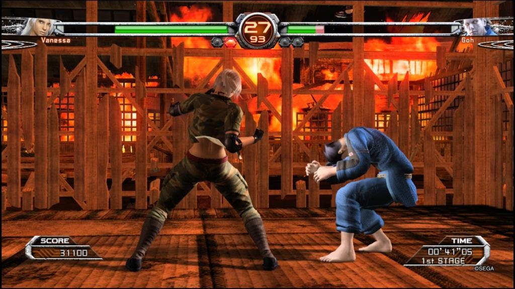 Yakuza 6: The Song of Life; Gameplay: Virtua Fighter