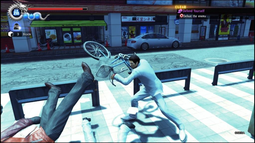 Nejlepší hry; Yakuza 6: The Song of Life; screenshot: wrestling