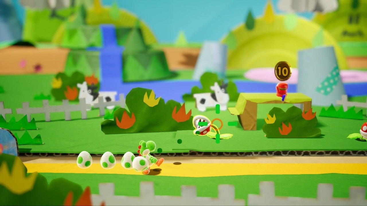 Yoshis crafted World; screenshot: svět
