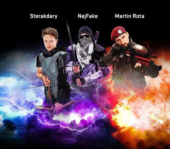 Youtubeři; Sterakdary; NejFake; Martin Rota