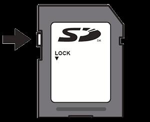 Zámek SD karty