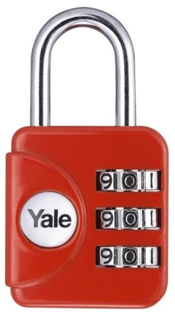 TSA zámek Yale YP1 v červené