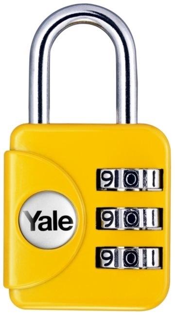 TSA zámek Yale YP1 žlutá