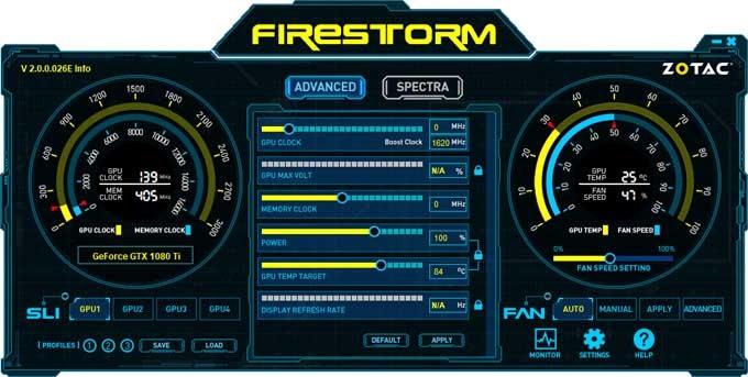 Zotac GTX 1080 Ti Mini FireStorm