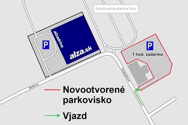 mapa - parkovisko ulica Chalupkova, Bratislava