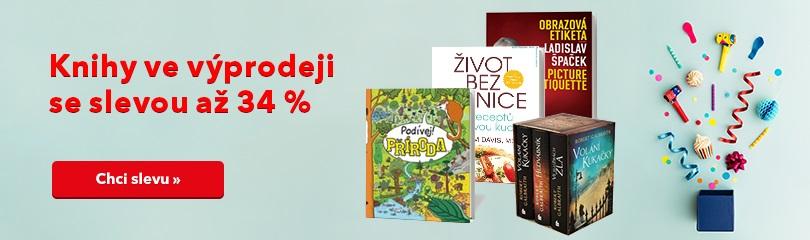 Až -34 % na výprodej knih