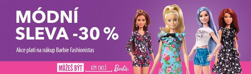 Módní sleva 30 % na Barbie Fashionistas