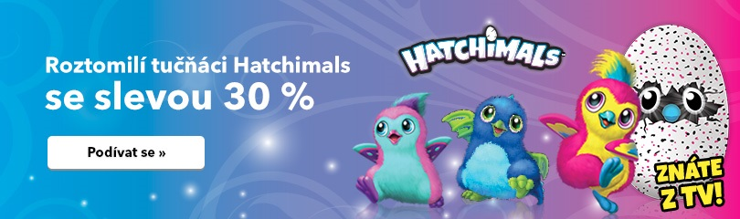 30% sleva na Hatchimals