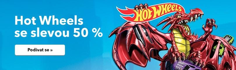 Sleva 50 % na Hot Wheels