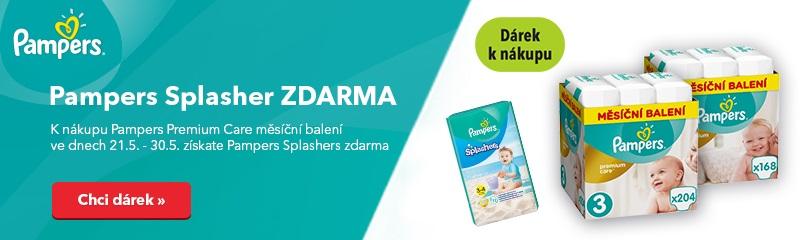Pampers Premium Care + Splashers zdarma