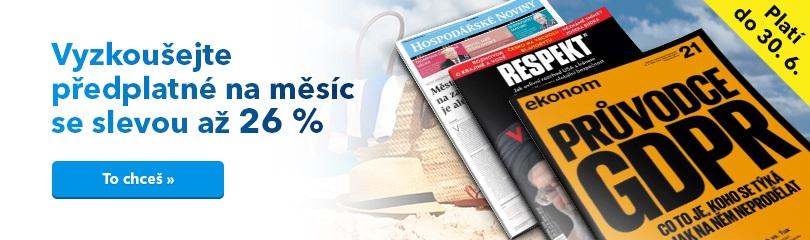Až - 26 % sleva na měsíční předplatné (HN, Ekonom, Respekt)