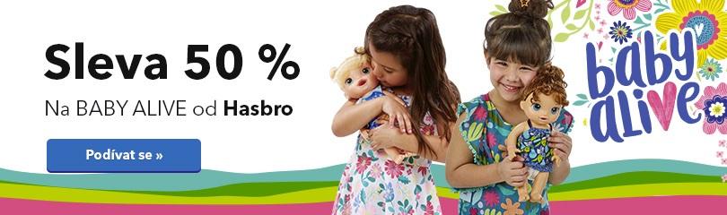 Sleva 50 % na Baby Alive