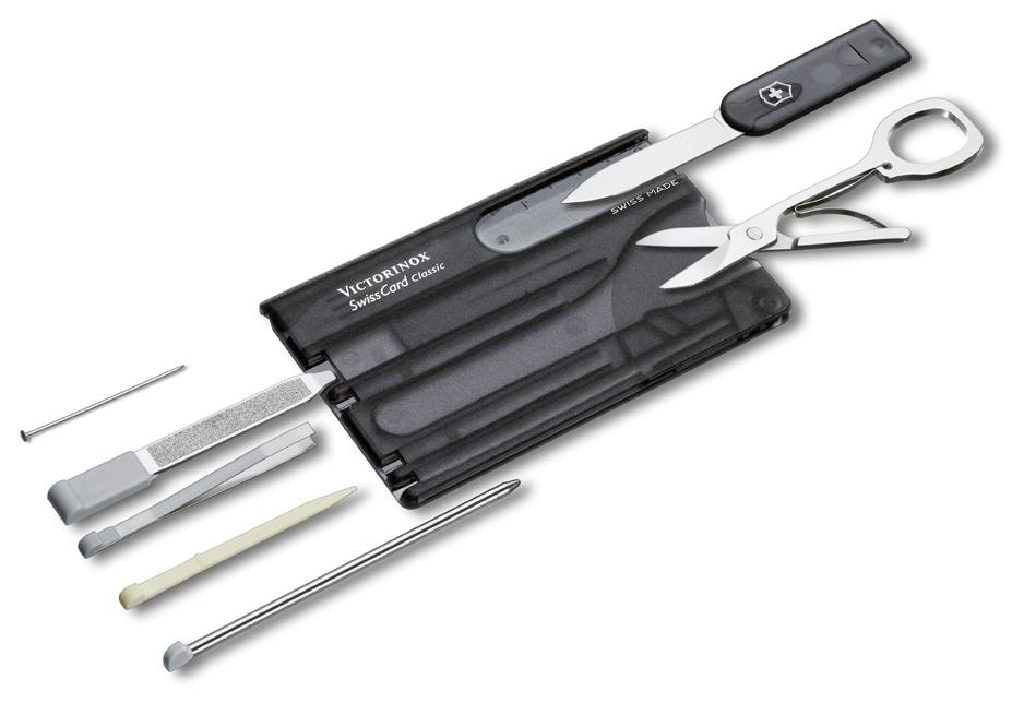 Kapesní nůž VICTORINOX Swiss Card Classic Translucent černý