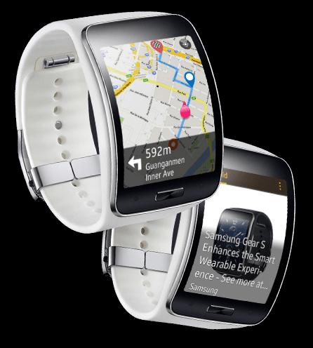 Inteligentní zážitky s nositelným zařízením. Nový koncept inteligentního  nositelného zařízení. Hodinky Samsung Gear ... 5bfc596921