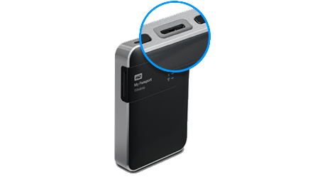 My Passport Wireless a detail na USB 3.0