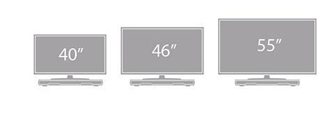 Ideální pro TV až do 55 palců