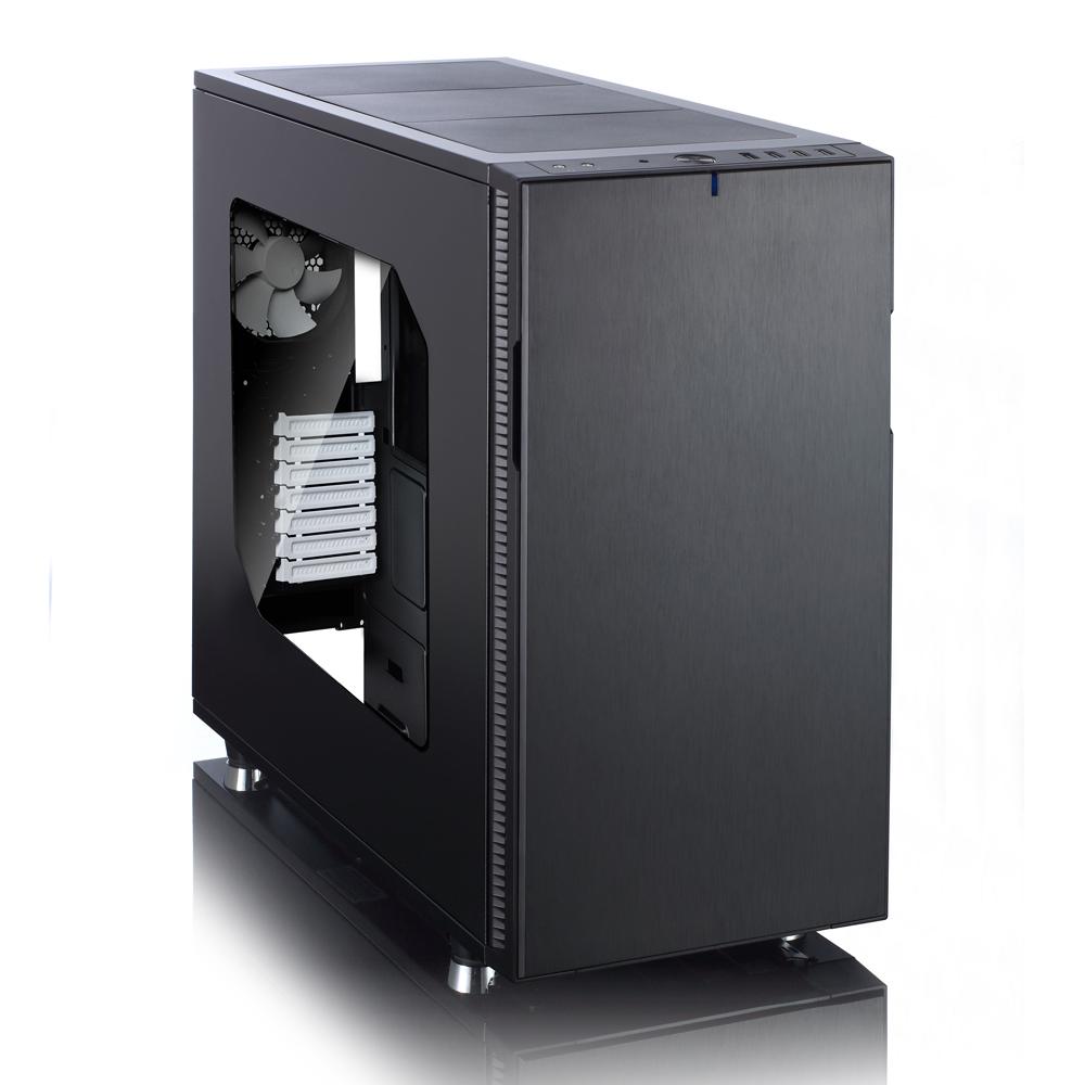 Skříň FD černá a průhledná bočnice
