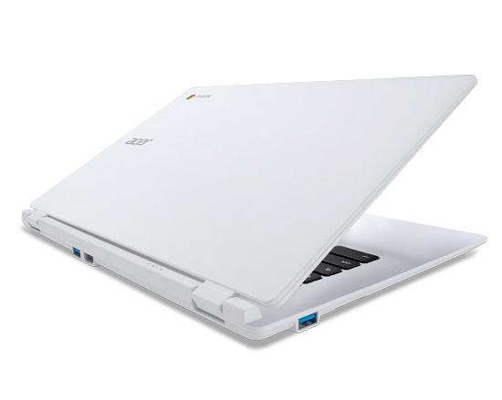 Acer Chrombook zezadu pootevřený