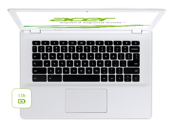 Acer Chrombook ze zhora