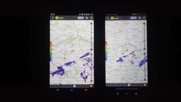 Huawei P smart fotka - porovnání displejů