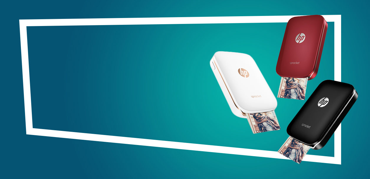 HP banner č.1 - Žij. Miluj. Tiskni. S fototiskárnou HP Sprocket