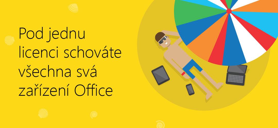Pod jednu licenci schováte všechna svá zařízení Office