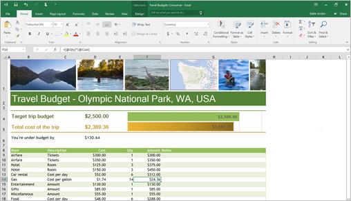 Excel document sample