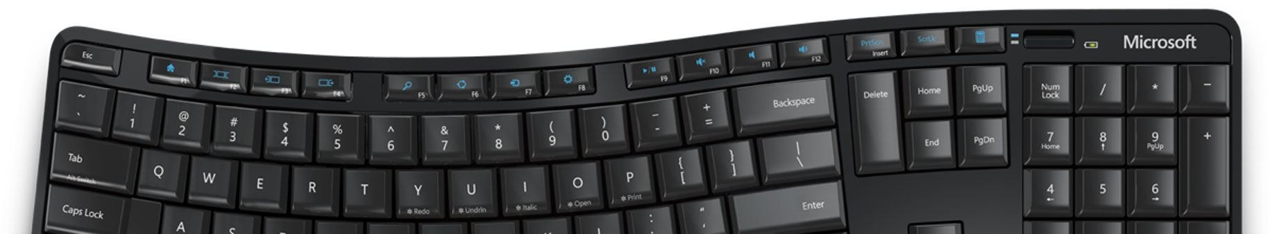 microsoft klávesnice