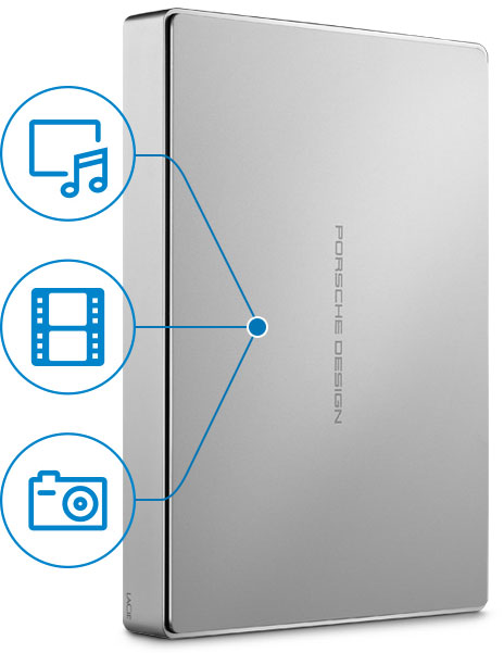Externí disky Porsche Design jsou výkonným úložným prostorem pro multimedia