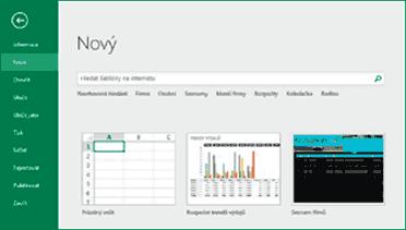 Excel - Nový sešit