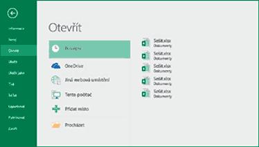Excel - Otevřít