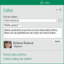 Excel - Sdílet