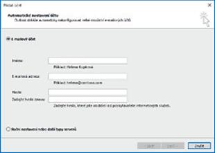 Outlook - Nastavení účtu