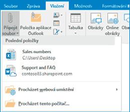 Outlook - Přílohy