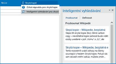 Outlook - Inteligentní vyhledávání