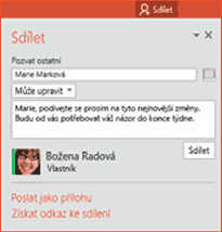 PowerPoint - Sdílet