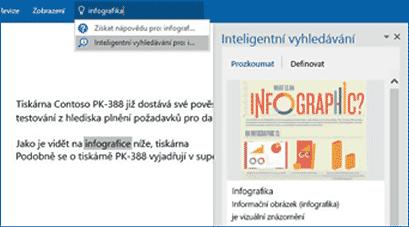 Word - Inteligentní hledání 2.
