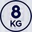 Kapacita bubnu 8 kg