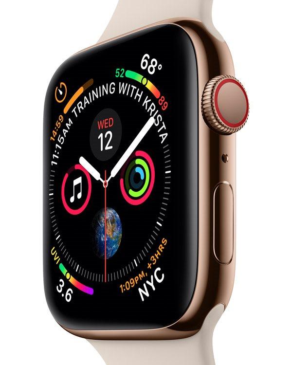 Apple Watch Series 4 Nike+ 44mm Stříbrný hliník s platinovým černým ... d1fed7fd351