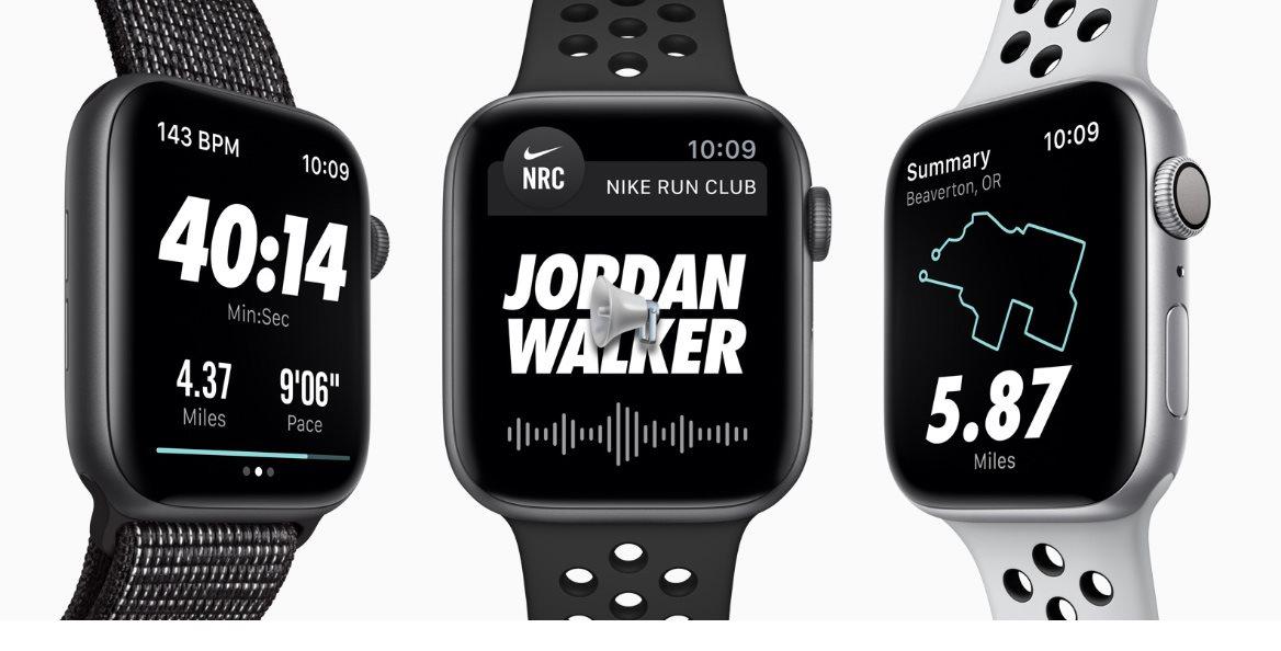 8cb3726e4 Apple Watch Series 4 Nike+ 44mm Stříbrný hliník s platinovým/černým ...