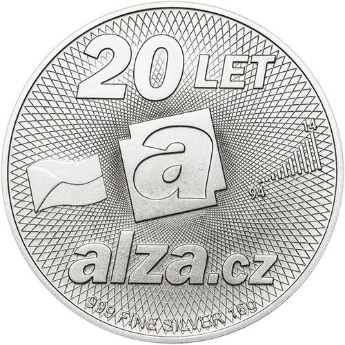 Stříbrná pamětní Alza mince 20 let Alza.cz