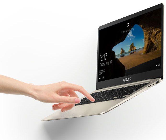 Notebook ASUS VivoBook S14, odemykání