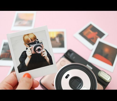 Instantní fotoaparát Fujifilm Instax Square SQ6 zlatý
