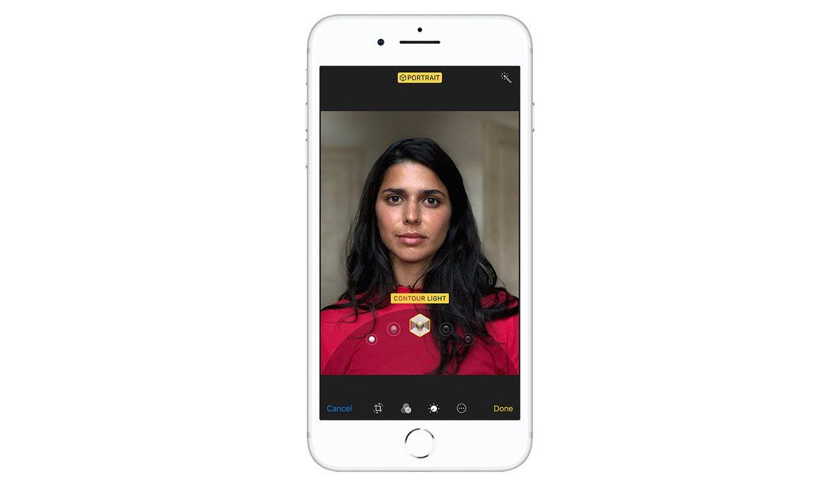 Portrétní režim iPhonu 8 Plus